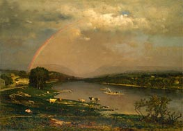 Delaware Water Gap, 1861 by George Inness | Painting Reproduction