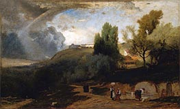 Scene in Perugia, 1875 by George Inness | Painting Reproduction