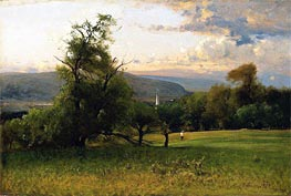 The Church Spire, 1875 von George Inness | Gemälde-Reproduktion