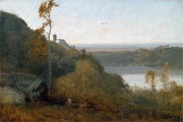 Lake Nemi, a.1874 by George Inness | Painting Reproduction
