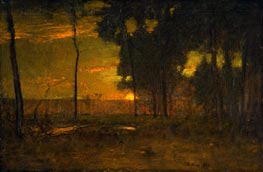 Golden Glow (The Golden Sun), 1894 by George Inness | Painting Reproduction