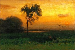 Sunrise, 1887 by George Inness | Painting Reproduction