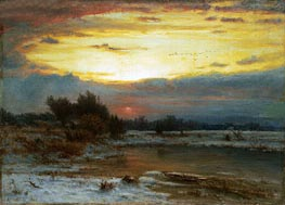 A Winter Sky, 1866 by George Inness | Painting Reproduction