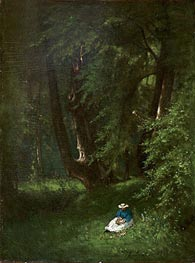 In the Woods, 1866 by George Inness | Painting Reproduction