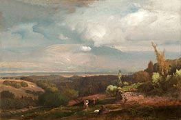 Approaching Storm from the Alban Hills, 1871 by George Inness | Painting Reproduction