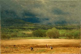The Wheat Field, c.1875/77 von George Inness | Gemälde-Reproduktion