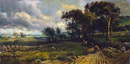 Fleecy Clouds, 1881 by George Inness | Painting Reproduction