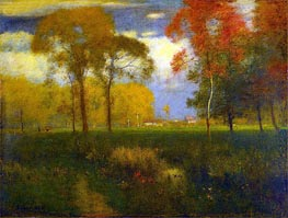 Sunny Autumn Day | George Inness | Painting Reproduction