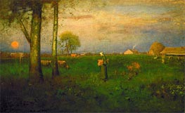 Sundown, 1884 by George Inness | Painting Reproduction