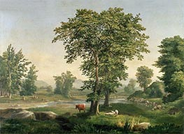 Landscape, 1846 by George Inness | Painting Reproduction
