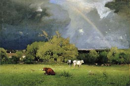 The Rainbow, c.1878/79 by George Inness | Painting Reproduction