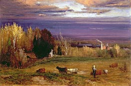 Sunshine After Storm or Sunset, 1875 by George Inness | Painting Reproduction