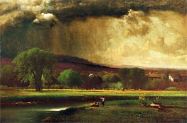 Coming Thunderstorm (Approaching Storm), 1868 by George Inness | Painting Reproduction