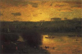 Sunset on the Passaic, 1891 by George Inness | Painting Reproduction