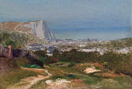 Etretat, Undated by George Inness | Painting Reproduction