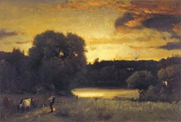 Slow Fading Day, 1880 by George Inness | Painting Reproduction