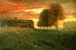 Sunset, Montclair, 1892 by George Inness | Painting Reproduction