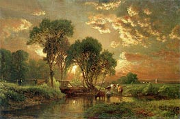 Medfield, Massachusetts, undated by George Inness | Painting Reproduction