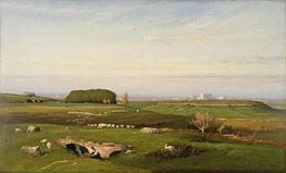 In the Roman Campagna, 1873 by George Inness | Painting Reproduction