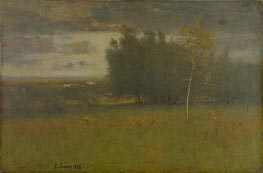 The Valley on a Gloomy Day, 1892 by George Inness | Painting Reproduction