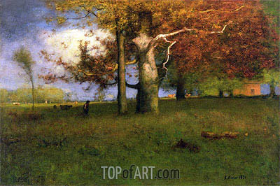 George Inness | Early Autumn, Montclair, 1891