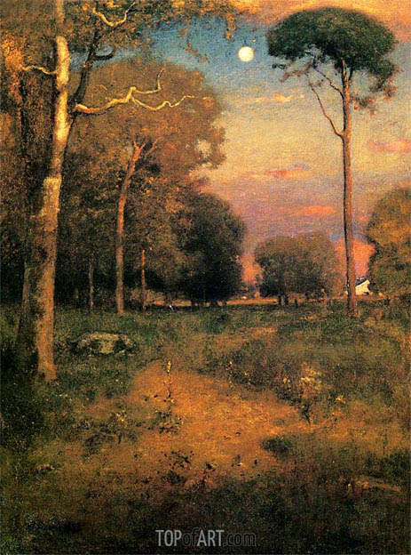 Early Moonrise, Florida (Early Morning, Florida), 1893 | George Inness | Gemälde Reproduktion