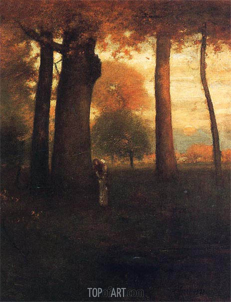 George Inness | Sunset, Golden Glow, 1893