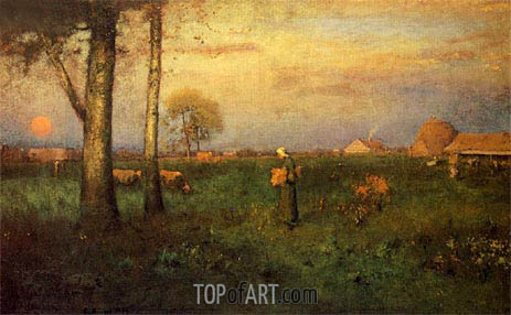 George Inness | Sundown, 1894