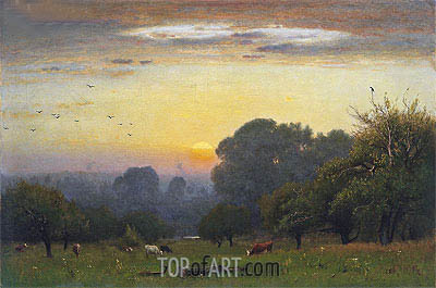 Morning, c.1878 | George Inness | Gemälde Reproduktion