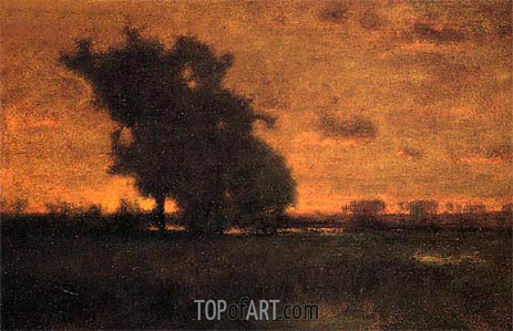 Sunset at Milton, 1885 | George Inness | Painting Reproduction