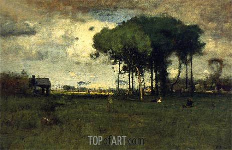 Georgia Pines - Afternoon, 1886 | George Inness | Gemälde Reproduktion