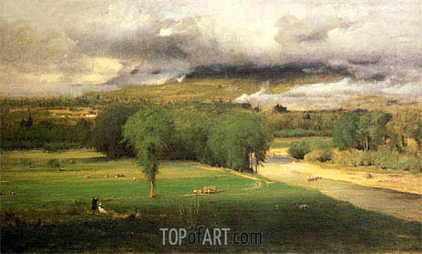George Inness | Saco Ford - Conway Meadows, 1876