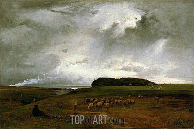 The Storm, 1876 | George Inness | Gemälde Reproduktion