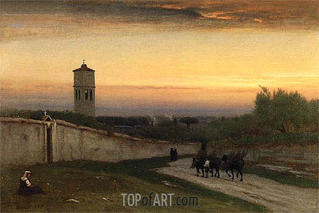 Twilight, 1875 | George Inness | Gemälde Reproduktion