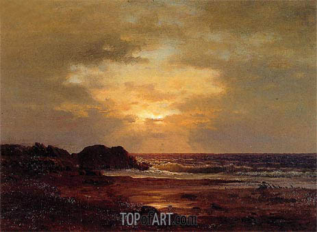 Coast Scene, c.1857 | George Inness | Painting Reproduction