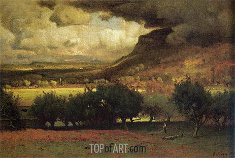 The Coming Storm, 1872 | George Inness | Gemälde Reproduktion