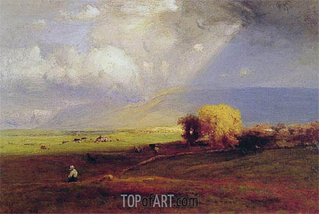 Passing Clouds, 1876 | George Inness | Gemälde Reproduktion