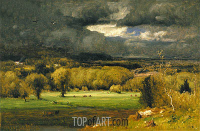 The Coming Storm, 1878 | George Inness| Painting Reproduction