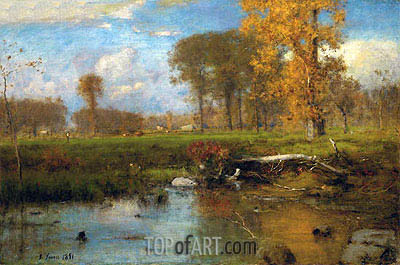 Spirit of Autumn, 1891 | George Inness | Painting Reproduction