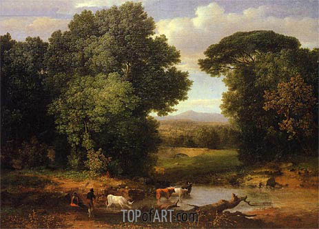 A Bit of Roman Aqueduct, c.1852 | George Inness | Painting Reproduction