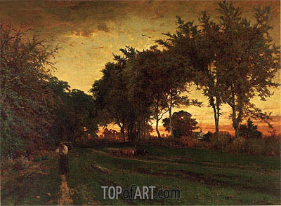 Evening Landscape, c.1862/63 | George Inness | Gemälde Reproduktion