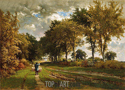 The Road to the Farm, 1862 | George Inness | Gemälde Reproduktion