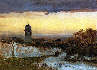 Monastery at Albano, c.1875 | George Inness | Painting Reproduction