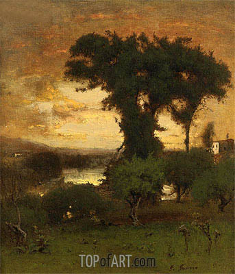 Afterglow, c.1878 | George Inness| Gemälde Reproduktion
