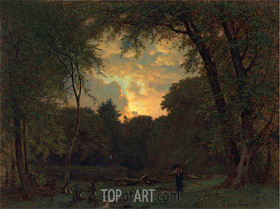 Evening, 1865 | George Inness | Gemälde Reproduktion