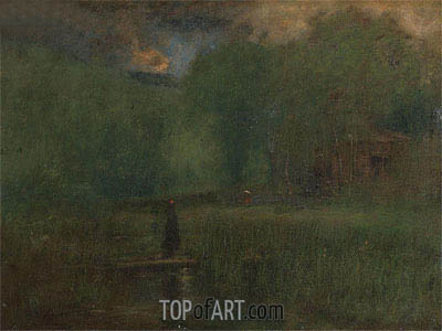 Sundown, 1887 | George Inness| Gemälde Reproduktion