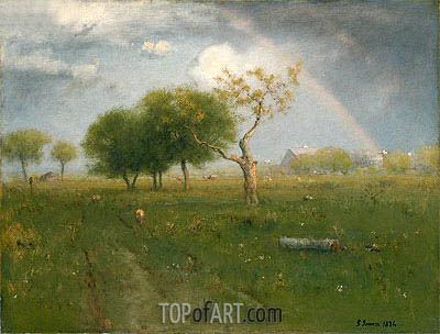 After a Summer Shower, 1894 | George Inness | Gemälde Reproduktion