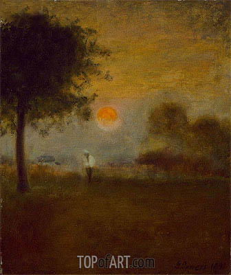 George Inness | Moonrise, 1891
