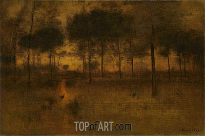 The Home of the Heron, 1893 | George Inness | Gemälde Reproduktion