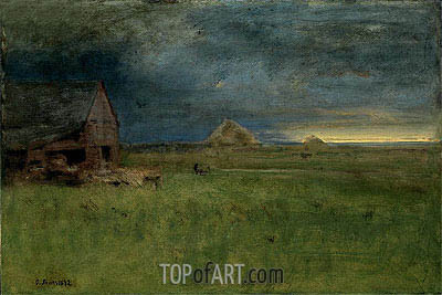 The Lone Farm, Nantucket, 1892 | George Inness | Gemälde Reproduktion